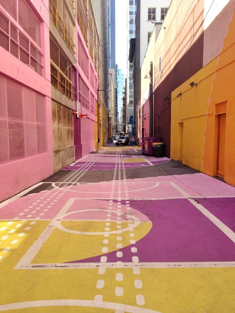 Design is Everywhere, Colourful Alley, Colourful Design, Architectural Design, Vancouver Design